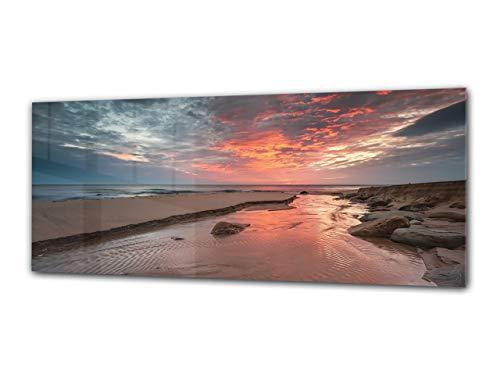 Cuadro de cristal - Imagen sobre vidrio125 x 50 cm – Playa...