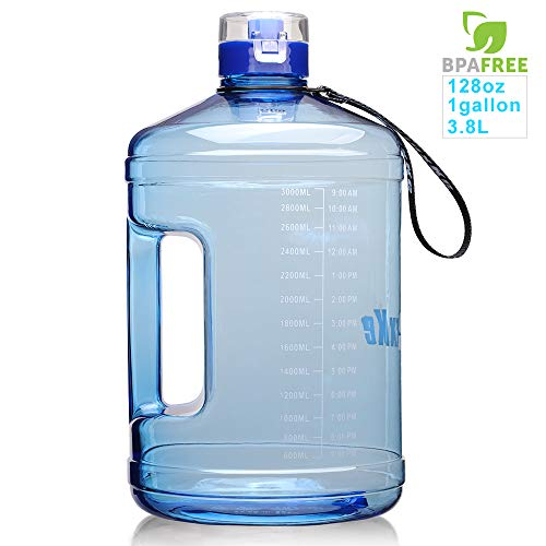 SLUXKE Trinkflasche Sport - 2.2 L / 3.78 L Wasserflasche I Große Sportflasche I BPA Frei I Water Jug I Wasserflasche 2.2 Liter I auslaufsicher I Gallone Water Bottle für Fitness I Sport I Gym