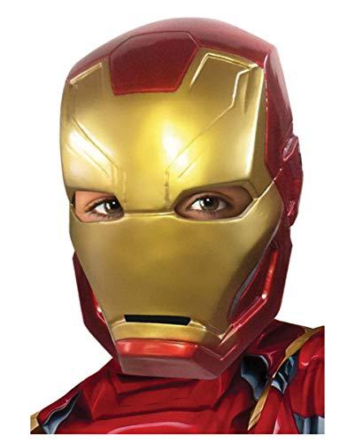 Horror-Shop Iron Man Kinder-Halbmaske als Superhelden Kostümzubehör aus Avengers Civil War