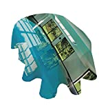 Angel Bags House Decor - Mantel ovalado para piscina interior de una casa moderna con ventana de spa, interior residencial de poliéster, 132 x 188 cm, para primavera, verano, fiesta, picnic