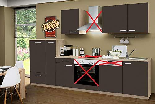 Menke Küchenzeile 310 cm Lava ohne Geräte mit Spüle & Blende - Smart Easy Lava