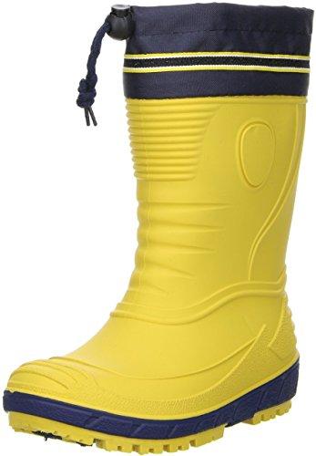 G&G Kinder Mädchen Jungen wasserdichte Gummistiefel Regenschuhe Nitrilgummi gelb, Farbe:Gelb, Größe:20