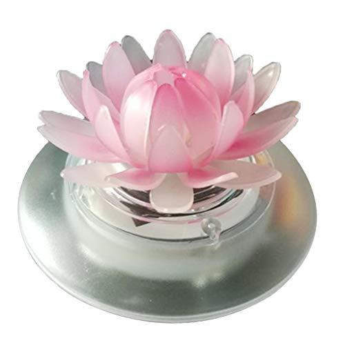 FLAMEER Solarlicht LED Nachtlicht schwimmende Frosch/Lotus Teichlampe der Hingucker für Schwimmbad und Halloween Geburtstag Deko - Lotus
