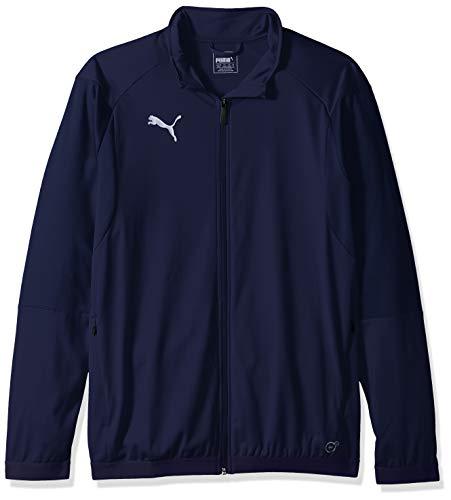 PUMA Men's Liga Training Jacket, Peacoat White, M