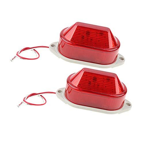 dailymall 2x Warnblinkleuchte LED Warnleuchte Mit Alarmton AC220V Warnblinkanlage Notfall