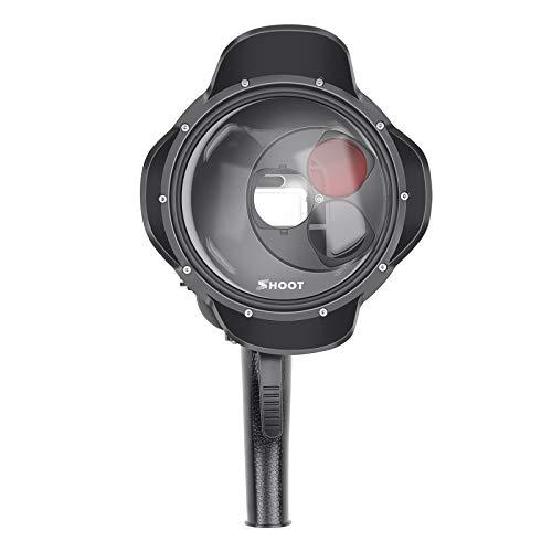 Nieuwste multifunctionele dome-poort waterdichte behuizing met rood, macrolenzen filter en vergrootglas voor GoPro Hero 7 zwart/Hero 6/5 / Hero 2018