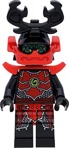 LEGO Ninjago - Minifigura de guerrero de piedra samurai con cara verde (ejército de piedra)
