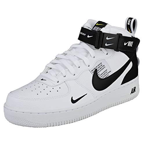Nike Air Force 1 Mid '07 Lv8, Zapatillas de Gimnasia para Hombre, Blanco (White/Black/Tour Yellow 103), 39 EU
