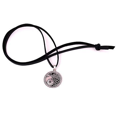 Cadena de Cuero Yin Yang Taoísmo Moda Cultura Tradicional China Colgante Talismán Blanco y Negro Amuleto