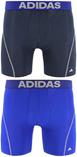 adidas Men's Sport Performance Climacool Boxer Brief Underwear (2-Pack), Urban Sky/Bold Blue Bold Blue/Urban Sky, X-LARGE