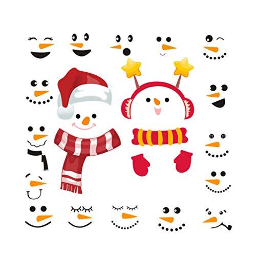 UPKOCH Christmas Wall Decals Creative Snowman Decals Wall Sticker Christmas Pantry Decals Snowman Refrigerator Decals Winter Decor Christmas Wall Decals for Kitchen Cabinet Door Window