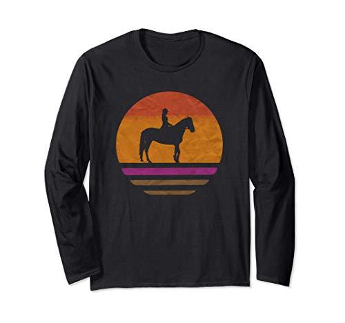 Abbigliamento da equitazione per ragazze vintage Maglia a Manica