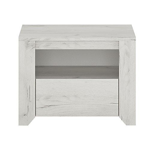 Furniture To Go Angel 1Comodino con cassetto, in legno di quercia bianca