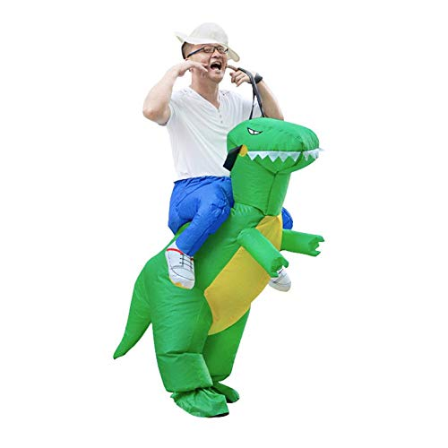 Dinosauro Costume Gonfiabile per Adulti Accessori di Halloween Cavalcabile Divertimento Animale Giocattolo Uomo Donna Vestito da Festa Abiti Cosplay