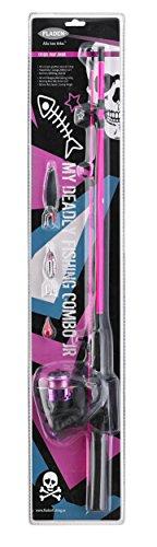 Fladen Wilderness Angel Starter Set Junior 1,25m, Farbe:pink
