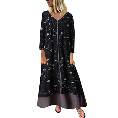 Lowest Prices! EDTO Women Holiday Style Feminino Print Casual Plus Size Ladies Dress