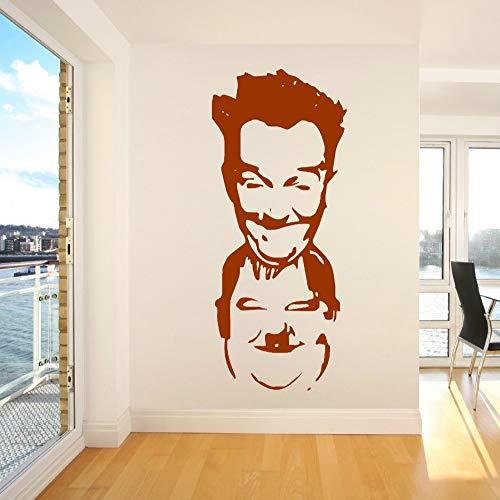 fancjj Famoso Laurel Y Calcomanías Extraíble Home Art People 24X57CM Etiqueta de la Pared Navidad decoración bazhahei del Espejo Pizarra Halloween 3D hogar Dormitorio