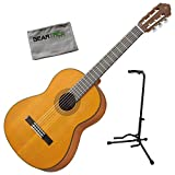 Yamaha CG122MCH Solid Cedar Top Classical Guitar Bundle w/Stand and...