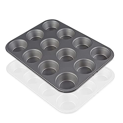 Teglia Per Muffin, Teglia Per Muffin Con Rivestimento Antiaderente, Può Contenere 12...