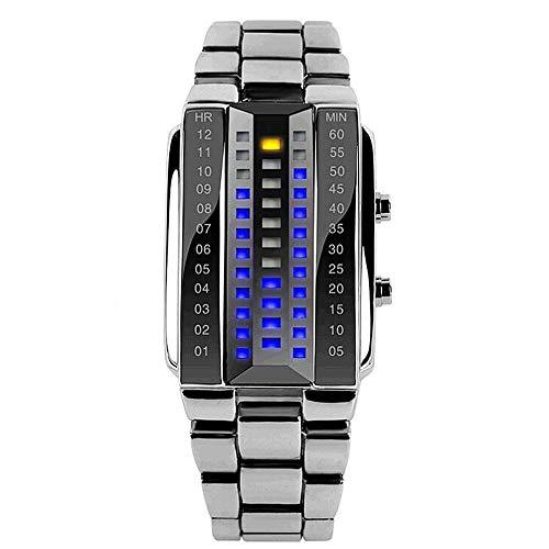 Reloj LED De Lava para Hombre Reloj De Tres Filas Electrónico A...