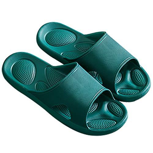 AYDQC Zapatilla de Pareja de Estilo Coreano EVA Fondo Suave Inicio sin Olor Olor Zapatillas silencioso Deslizamiento Resistente al Desgaste para Hombres Zapatos Interiores (Size : 43-44)