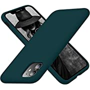 Cordking iPhone 11 Case, Silicone Ultra Slim Shockproof Phone Case with [Soft Anti-Scratch Microfiber Lining], 6.1 inch, Teal