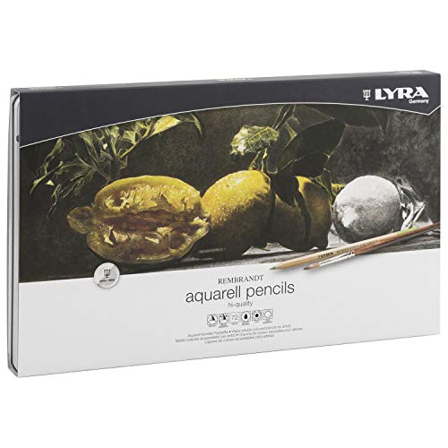LYRA Rembrandt Aquarell Artists' Colored Pencils, Set of 72 Pencils, Assorted Colors (2011720)