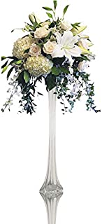 CYS EXCEL Eiffel Tower Vases in Various Size and Color, Flower Arrangements Wedding Decoration (Clear-1.5