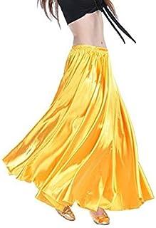 Gonna Calcifer per danza del ventre, lunga, in raso, da donna, per costumi e danzatrici professioniste