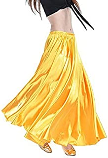 YANNI Satin-Rock für Bauchtanz, lange Tanzkleidung für Damen und professionelle Tänzer