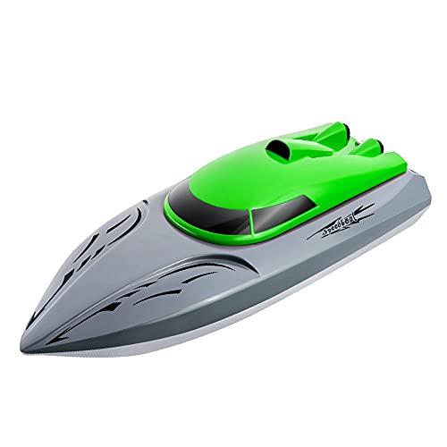 ZDYHBFE Lancha rápida de alta velocidad RC Competición Barco de control remoto Verano Juguetes acuáticos al aire libre Niño Niña Barco de juguete para adultos Se entregan tres baterías recarga