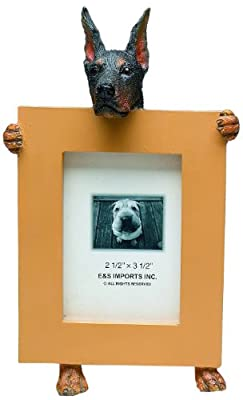 """Doberman (Black) - 2.5"""" x 3.5"""" Picture Frame from E&S Imports, Inc"""