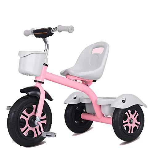 GIFT Premier Vélo Roue Molle Kids Tricycle Trike EVA, Siège Peut être Ajusté, Cadeau De Noël Nouvel an 2-6ans,F