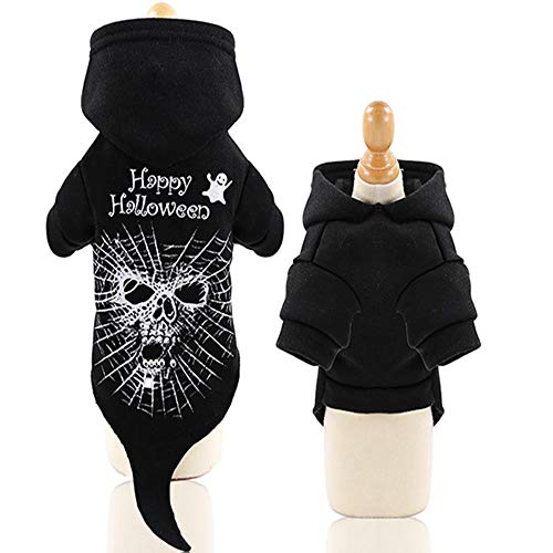 wscmd Halloween Hundebekleidung, Spinnenkostüm Dressing Up Haustier für Welpen Kleine Mittlere Hunde Chihuahua Teddy Mops Weihnachtsfeier Halloween Sweatshirt
