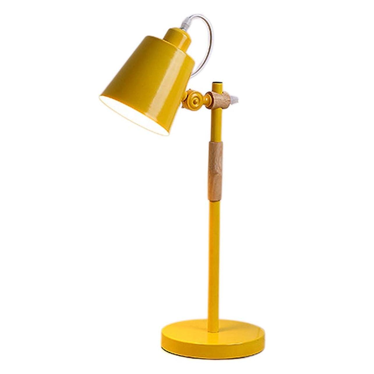 肉腫悪質な部分的に北欧インテリア眼の保護デスクランプ、ベッド電源スイッチ照明器具E27と一緒に勉強ルーム読書ルーム (Color : Yellow 7W warm light)