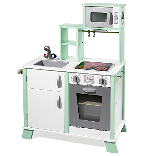 Howa Spielküche/Kinderküche Chefkoch aus Holz mit LED-Kochfeld 48203
