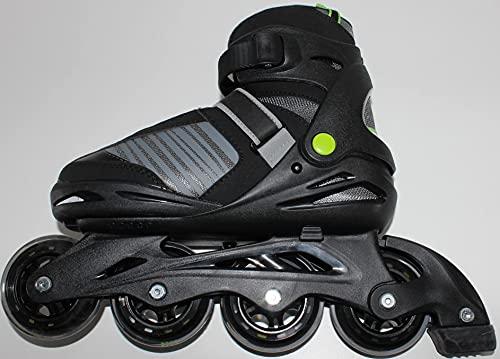 QMBasic Junior Sports Inliner | Inline Skates 5in1 Black-Style Softboot 5-Fach längen- und weitenverstellbar Größe 37-41 09840
