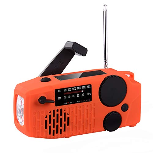 XCSOURCE 防災ラジオ 懐中電灯 ラジオライト ラジオ 防災 手回し充電 2000MAH スマホ充電 USB充電 イヤホン付き 器具 津波 JPV009