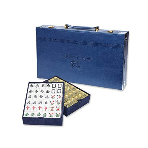 SZeao 144 Pcs Mahjong De Cristal Acrílico Mah Jongg De Viaje Portátil Número Chino Grabado Mahjong para Juegos De Mesa Multijugador, Entretenimiento Y Ocio