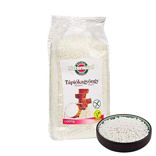 Naturmind Tapiokaperlen weiß 1000g I Bubbles Tea - aufgeweichte Tapiokaperlen I Glutenfrei Vegan-Paleo Produkte