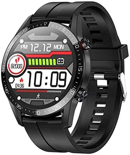 Reloj Inteligente Bluetooth Llamada ECG Ritmo Cardíaco Fitness Tracker Presión Arterial IP68 Impermeable Smartwatch para IOS Android-D