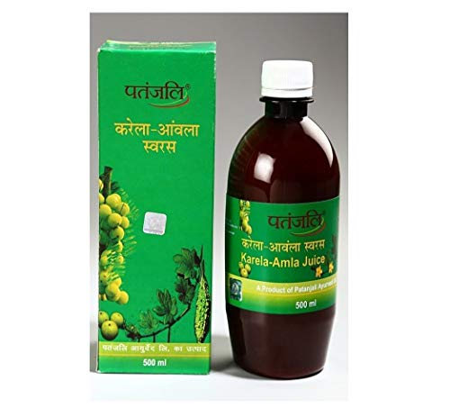 Patanjali Karela Amla Juice - 500ml (Pack of 2)
