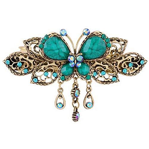Premium-Qualität Schmetterling Quasten Frauen Haarspange Haarspangen Haarnadeln Lady Pferdeschwanz Haarschmuck Carry stone