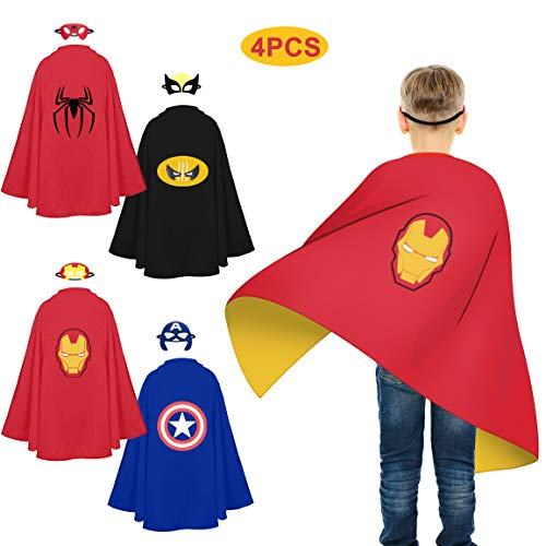 Refasy Toys for 3 Year Old Boys,Superhero Capes for Kids Halloween Costume Cosplay Cartoon Dress up Costumes Superhero Toy for Kids Festival Party Supplies Favors Best Birthday Xmas Gifts for Boy Girl