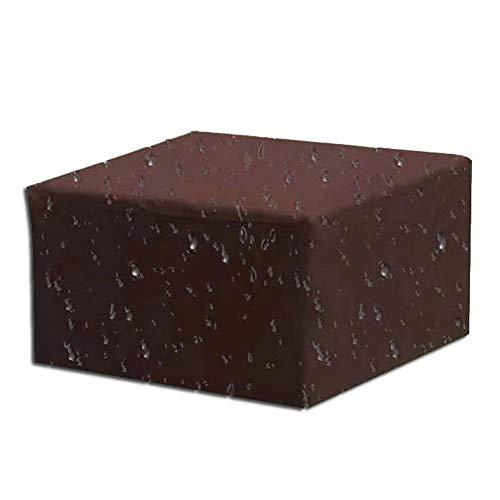 SYLC - Cubiertas para muebles de jardín (impermeable, 210D, tela Oxford, rectangular, resistente al viento, anti-UV, 126 x 126 x 74 cm)