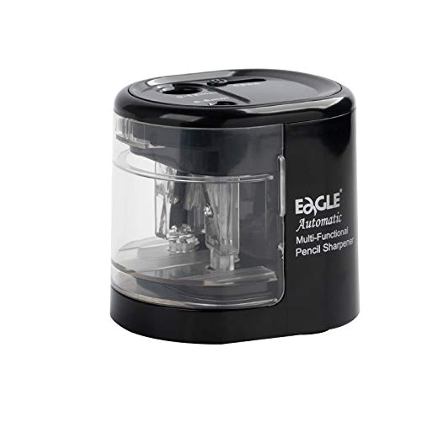 Eagle Double Hole Electric Pencil Sharpener,?Battery/USB Operated,?Fit For Different Size Pencils,?6-8mm,?9-12mm