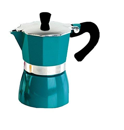 Klassisch italienischer Espressokocher / Espressobereiter, in türkis,von TOGNANA