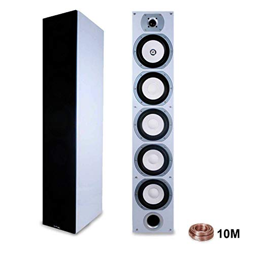 Lautsprecher LTC V7B-White HiFi/Heimkino Home Sound 880W + 10 m Kabel