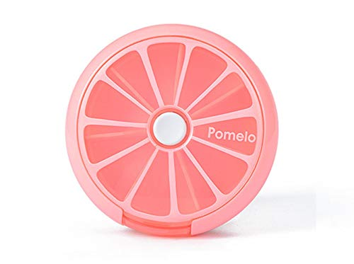 INVODA Pill Cases Pill Box Weekly 3 Times 7 Compartments Large Medicine Pill Organizer (Pomelo 1PCS)
