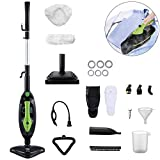 Moolan Steam Mop Handheld Cleaner Upright Multi Purpose All-in-One Carpet Floor Clothing Steamer Cleaning Machines Including 14 Accessories